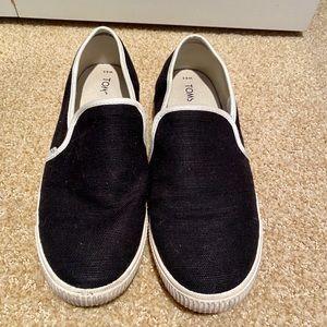 Black Slip on Toms